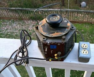 Antique Vintage Superior Electric Co Powerstat Variac Variable Autotransformer