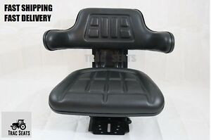 Black Ford Farm Tractor Universal Waffle Trac Brand Suspension Spring Seat