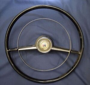 54 Ford Passenger Car Horn Ring Steering Wheel