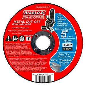 Diablo 5 Inch Metal Cut Off Disc Wheel Disk 10 Pack Cutting Angle Grinder Tool