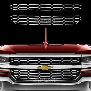 2016 18 Chevy Silverado 1500 Chrome Snap On Grille Overlay Grill Covers Inserts