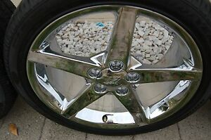 2007 C6 Corvette Chrome Wheels And Tires Used Gm