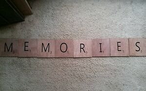 Large Scrabble Tiles For Wall Art Wooden Sign Primitive Memories Handmade