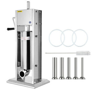 5l Vertical Commercial Sausage Stuffer Meat 304 Stainless Steel Filler 2 Speeds