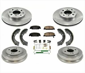 99 00 Civic Dx Hx Gx Lx Brake Disc Rotors Pads With Drums Brake Shoes Springs