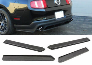 For 10 14 Ford Mustang Poly Urethane Rear Bumper Spats Splitter Lip 2 Pcs