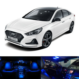 12 X Blue Led Interior Package Kit Light For 2011 2017 2018 2019 Hyundai Sonata