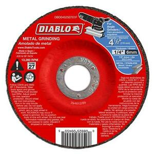 Diablo 4 5 Inch Metal Grinding Disc Disk 10 Pack Angle Grinder Tool Attachment