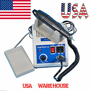 Dental 35k Rpm Electric Marathon Micromotor Contra Straight Handpiece Burs Usa