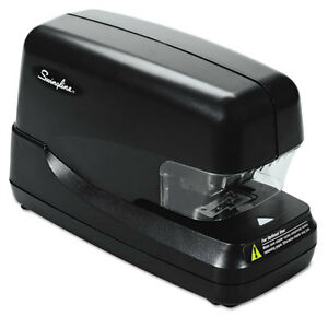 High capacity Flat Clinch Electric Stapler With Jam Release 70 sheet Cap Black