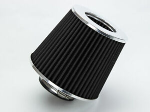 2 5 Short Ram Cold Air Intake Filter Round Cone Universal Black For Chevy 2
