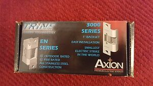 Trine 3000 Axion Cylindrical Electric Strike Door 3000 Series With Strikes