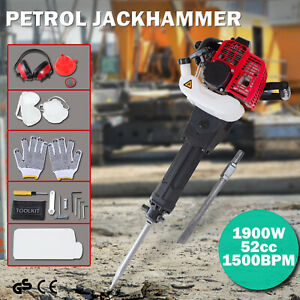 Electric Gas Demolition Jack Hammer 52cc Concrete Breaker Punch Drill Jackhammer