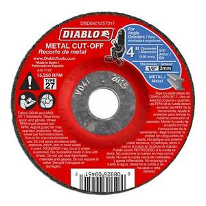 Diablo 4 Inch Cutting Wheel 10 Pack Cut Off Disc Disk Angle Grinder 5 8 In Arbor