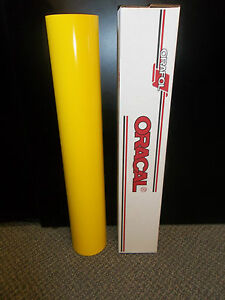 Oracal 651 1 Roll 24 x10yd 30ft Gloss Yellow 021 Sign Vinyl