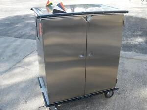Lakeside Stainless Steel Rolling Medical Cabinet Model 6937ls 54 h X 29 w X 48 l