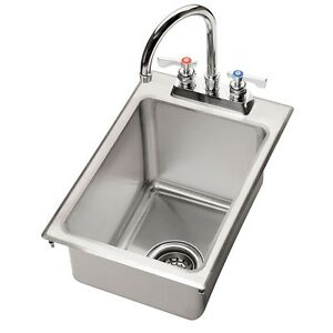 Krowne Metal Hs 1425 1 Compartment 12 w Drop in Hand Sink