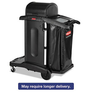 Executive High Security Janitorial Cleaning Cart 23 1 10 X 39 3 5 X 27 1 2 Blk