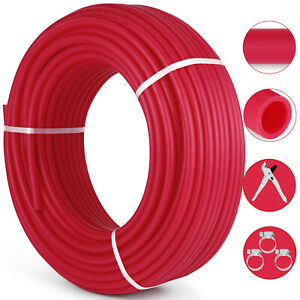 1 2 x300ft Pex Tubing Oxygen Barrier O2 Evoh Red 300ft Radiant Floor Heat Us
