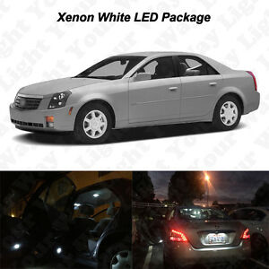 16 X White Led Interior Bulbs Reverse Tag Lights For 2003 2007 Cadillac Cts