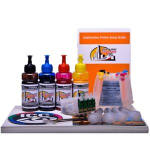 Sublimation Dye Ink Kit Continuous Ink System Fits Epson T2701 4 Ciss