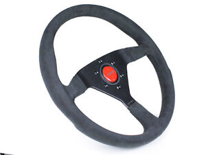 Momo Steering Wheel Monte Carlo 350mm Black Alcantara Black Stitch