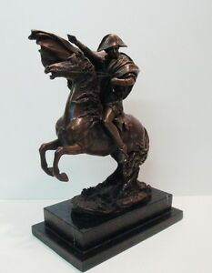 Statue Sculpture Horse Napoleon French Style Solid Bronze Signed