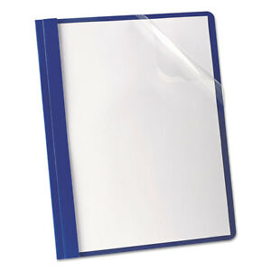 Premium Paper Clear Front Cover 3 Fasteners Letter Blue 25 box