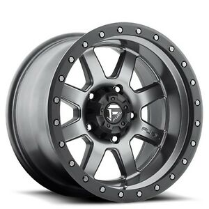 4pcs Off Road 18x10 Fuel Wheels D552 Trophy Gun Metal Rims