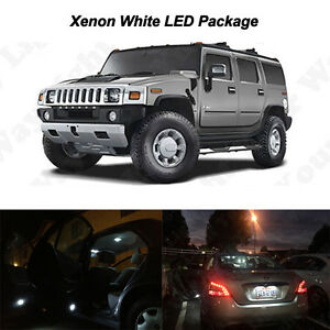 20 X White Led Interior Bulbs Drl Reverse Tag Lights For 2003 2009 Hummer H2
