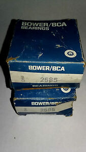 Bower Bca Tapered Roller Bearings Cone Series R4c 2585 Tr2 Tr3 New Old Stock