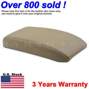 Fit 96 02 Toyota 4runner Center Console Armrest Leather Synthetic Cover Dark Tan