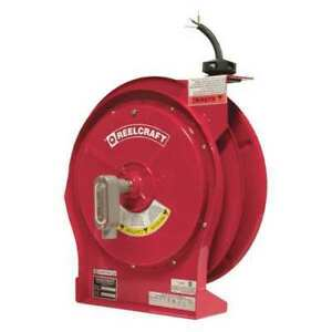 Retractable Cord Reel With 50 Ft Cord 10 3 Reelcraft L 5750 103 X