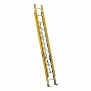Extension Ladder Fiberglass 20 Ft Iaa Louisville Fe4620hd