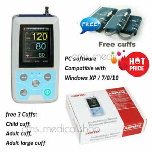 24h Nibp Holter Ambulatory Blood Pressure Monitor Abpm50 software ce Fda usa