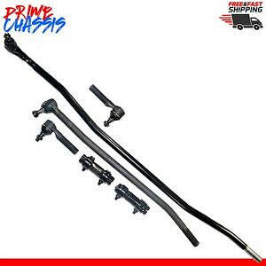 6 Pc Steering Parts Ford F350 85 97 Center Link Tie Rod Ends Sleeves F 350 4wd