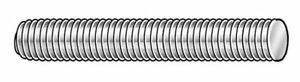 1 1 2 12 X 3 Zinc Plated Low Carbon Steel Threaded Rod Zoro Select 20315
