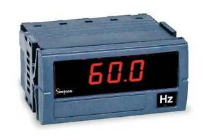 Digital Panel Meter frequency Simpson Electric F35 1 91 0