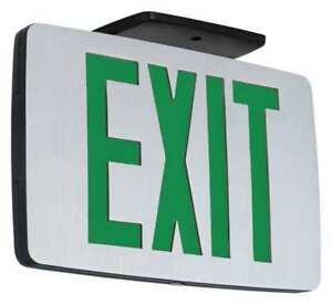 Hubbell Lighting Compass Led Exit Sign Battery Backup Ccesge
