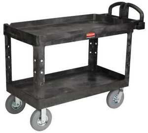 Utility Cart 750 Lb Load Cap Rubbermaid Fg454610bla