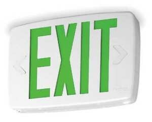 Quantum Series Thermoplastic Led Exit Sign battery Backup