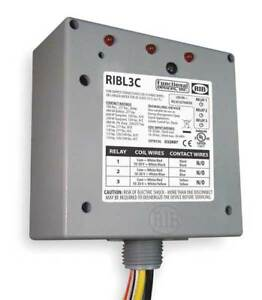 Enclosed Prewired Relay 10a 3 spst spdt Functional Devices Inc Rib Ribl3c
