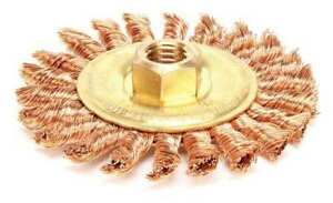 Ampco Wb 40kt Knot Wire Wheel Wire Brush Threaded Arbor