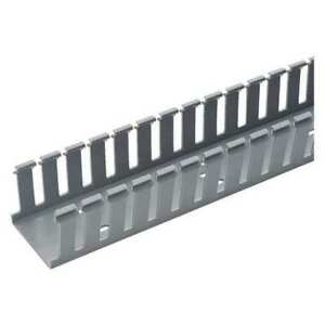 Wire Duct wide Slot gray 1 26 W X 2 D Panduit G1x2lg6 a