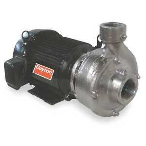 Stainless Steel 10 Hp Centrifugal Pump 208 230 460v Dayton 12a082