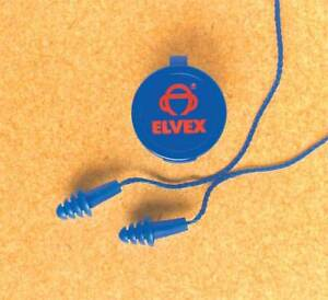 Corded Ear Plugs 25db Rated Reusable Flanged Shape Pk 50 Elvex Ep 412
