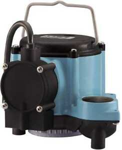 Little Giant 6 cia ml 1 3 Hp 1 1 2 Submersible Sump Pump 115v Mechanical