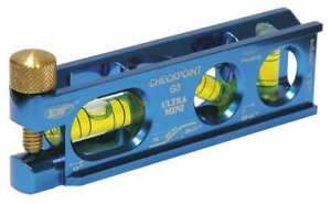 Mini mag Torpedo Level alum 4 In 3 Vials Checkpoint 11a475