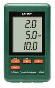 Pressure Datalogger 3 Channel Extech Sd750