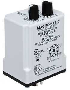 Time Delay Relay 120vac dc 10a dpdt Macromatic Tr 55122 10